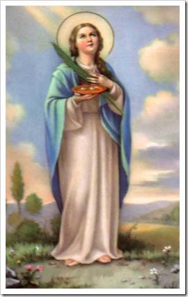 Imagem da Santa Luzia